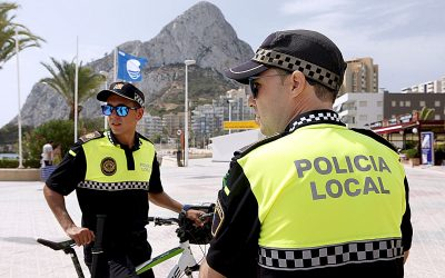 La Policía Local de Calp multa a 130 infractores por no llevar mascarilla